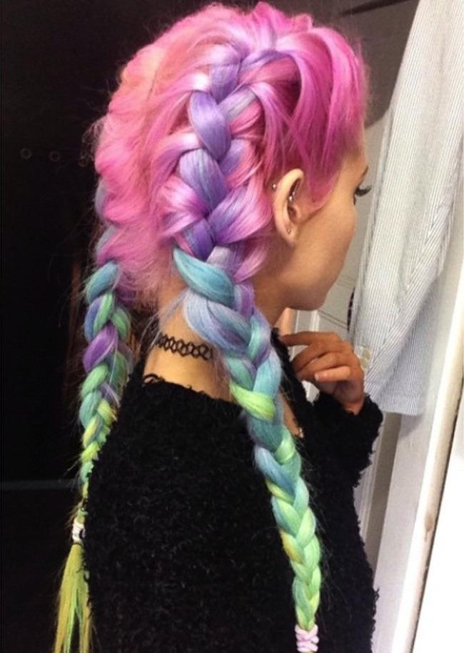 20 Rainbow Hair Color Ideas Jaderbomb