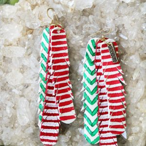 Christmas Boho Leather Earrings
