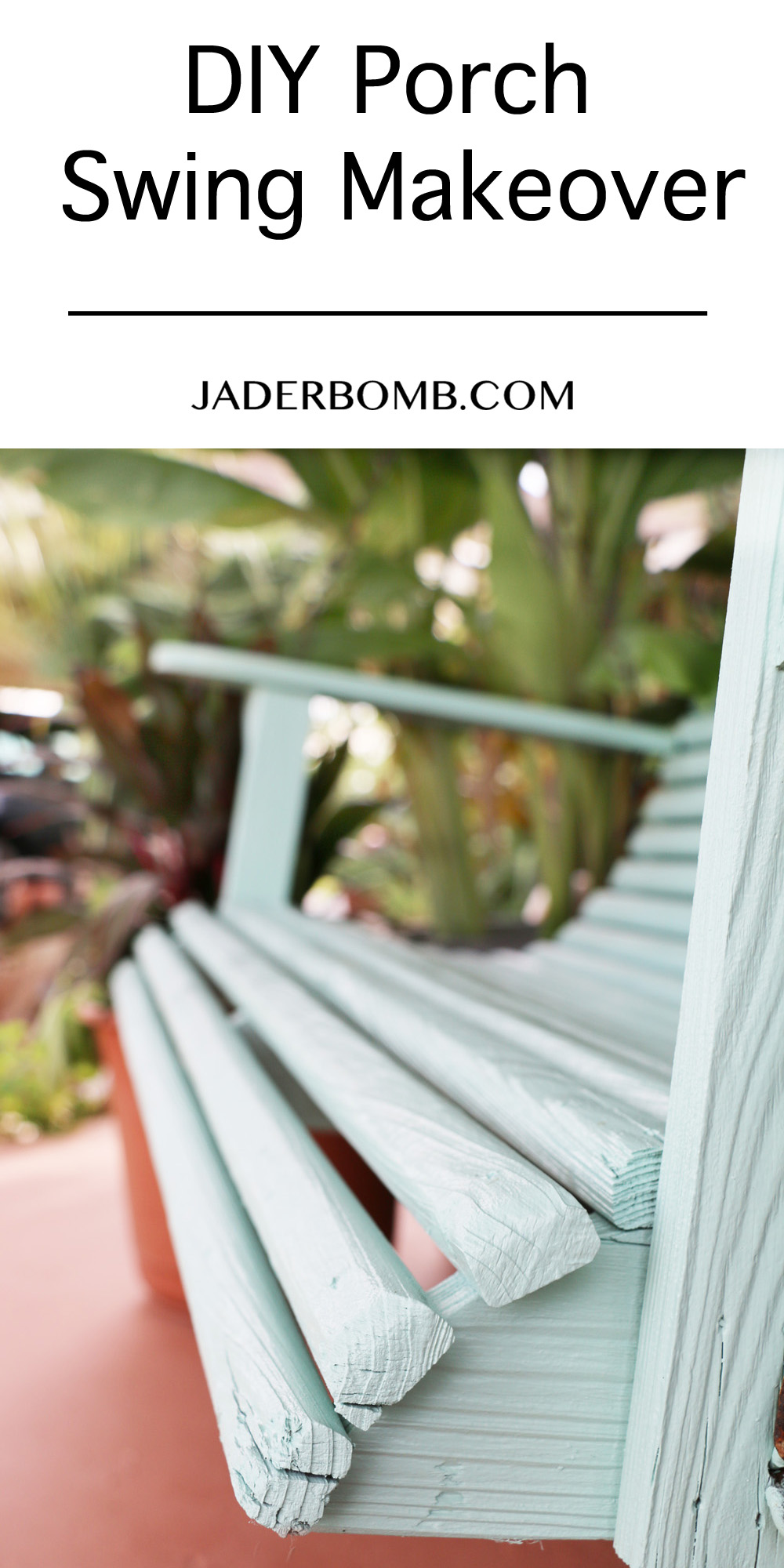 DIY Porch Swing Makeover
