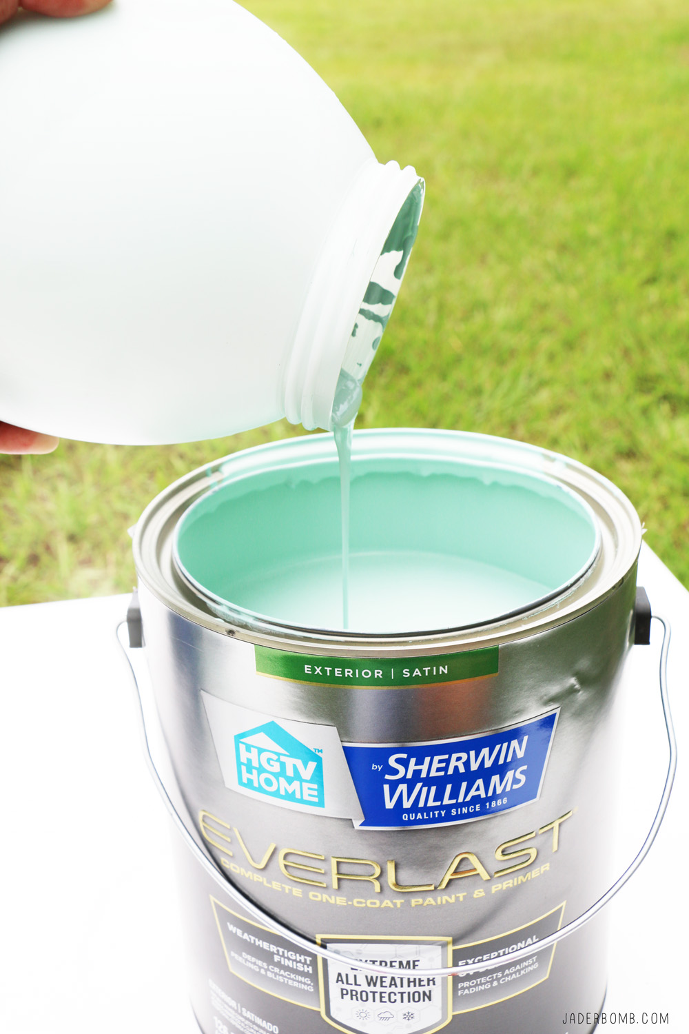 Tiffany Blue Paint - DIY Porch Swing Makeover